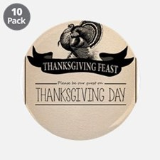 "Thanksgiving Day Turkey Feast Invitation 3.5"" Butt"