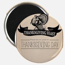Thanksgiving Day Turkey Feast Invitation Magnets