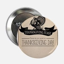 "Thanksgiving Day Turkey Feast Invitation 2.25"" But"