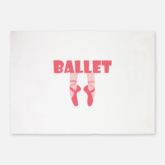 BALLET SHOES 5'x7'Area Rug