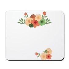 Simple Modern Floral White Invitation Mousepad