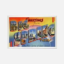 Big Spring Texas Greetings Rectangle Magnet