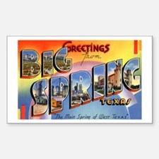Big Spring Texas Greetings Rectangle Decal