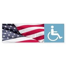 Disabld Veteran Bumper Bumper Sticker