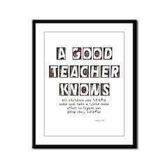 All Children Can Learn Framed Panel Print