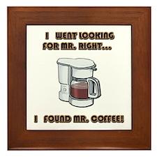 Mister Right Framed Tile