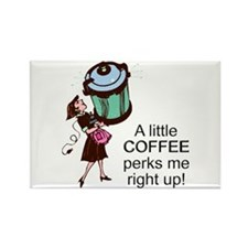 Coffee Perks Me Up Rectangle Magnet