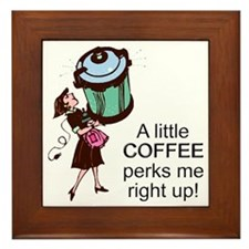 Coffee Perks Me Up Framed Tile