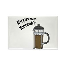 Express Yourself Rectangle Magnet