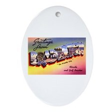 Bradenton Florida Greetings Oval Ornament