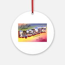 Bradenton Florida Greetings Ornament (Round)