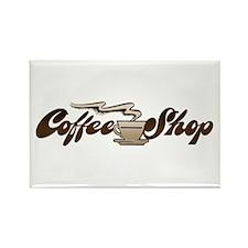 Vintage Coffee Shop Rectangle Magnet