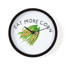Eat More Corn Wall Clock
