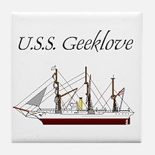 U.S.S. Geeklove Tile Coaster