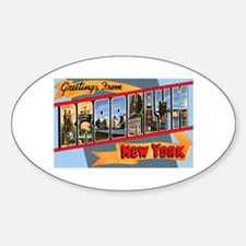 Brooklyn New York Greetings Oval Decal