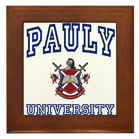 PAULY University Framed Tile