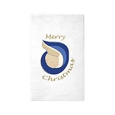 MERRY CHRISTMAS Area Rug