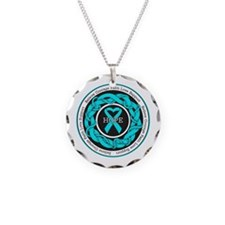 PTSD Hope Necklace Circle Charm