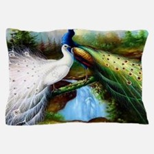Two Peacocks Pillow Case