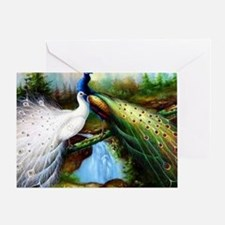 Two Peacocks Card Greeting Cards