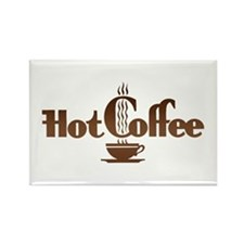 Hot Coffee Rectangle Magnet