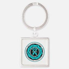 PCOS Hope Square Keychain