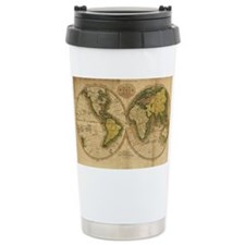 Cute Antique world map Travel Mug