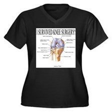 Cute Knee replacement Women's Plus Size V-Neck Dark T-Shirt
