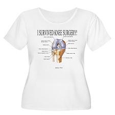 I Survived Knee Surgery!ANTERIOR Plus Size T-Shirt