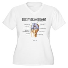 I Survived Knee Surgery!ANTERIOR Plus Size T-Shirt