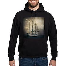 vintage pirate ship landscape Hoodie