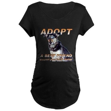 Adopt A Best Friend Maternity Dark T-Shirt