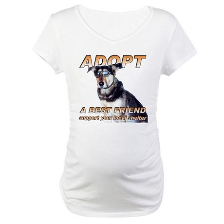 Adopt A Best Friend Maternity T-Shirt