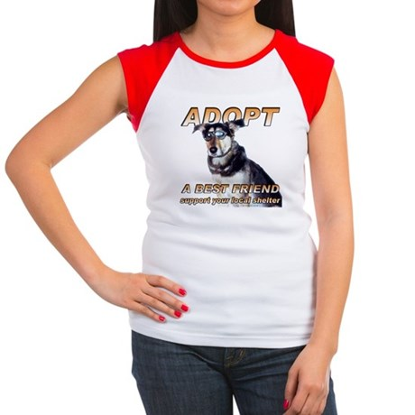 Adopt A Best Friend Women's Cap Sleeve T-Shirt