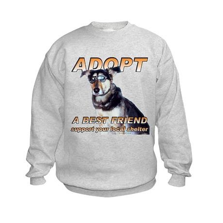 Adopt A Best Friend Kids Sweatshirt