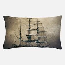 vintage pirate ship landscape Pillow Case