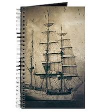 vintage pirate ship landscape Journal