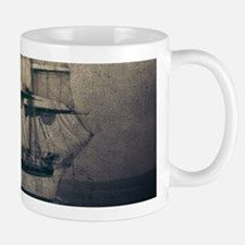 vintage pirate ship landscape Mugs