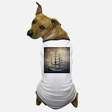 vintage pirate ship landscape Dog T-Shirt