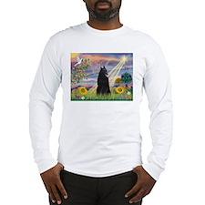 Cloud Angel & Belgian Shepherd Long Sleeve T-Shirt