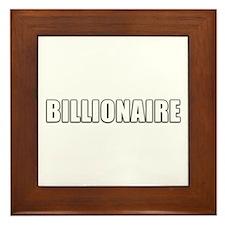 Billionaire Design Framed Tile