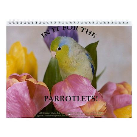 Parrotlet Wall Calendar