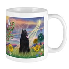 Cloud Angel & Belgian Shepherd Coffee Mug
