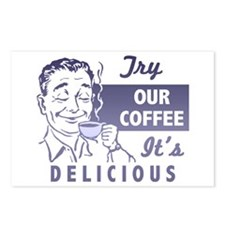 Coffee Shop Ad Postcards (Package of 8)
