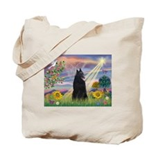 Cloud Angel & Belgian Shepherd Tote Bag