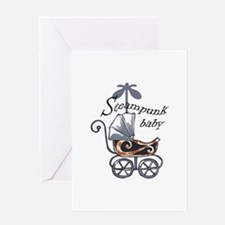 STEAMPUNK BABY Greeting Cards