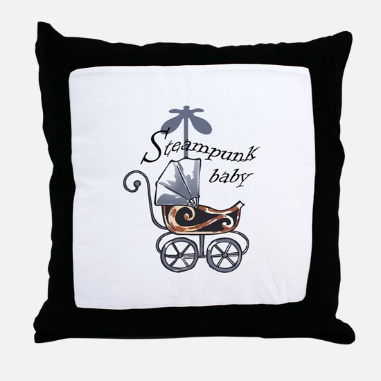 STEAMPUNK BABY Throw Pillow