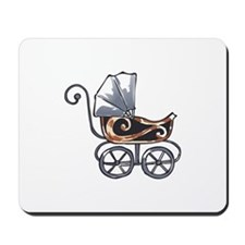 ANTIQUE BABY CARRIAGE Mousepad