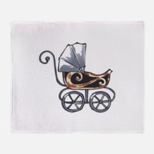 ANTIQUE BABY CARRIAGE Throw Blanket