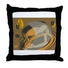 Abstract Coffee Shop Throw Pillow